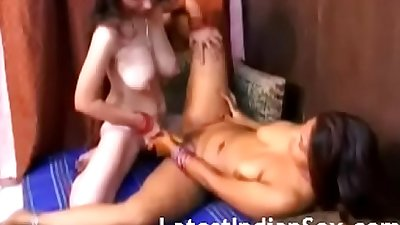 Indian Step Sisters Into Lesbian Sex Action